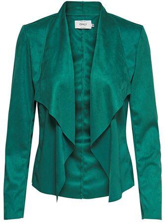 ONLY Női dzseki Fleur Drapy Faux Suede Jack és kadmium Green (méret 40)