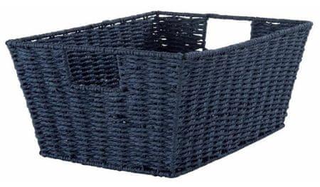 Compactor ETNA Ročno pletena košara za shranjevanje, modra
