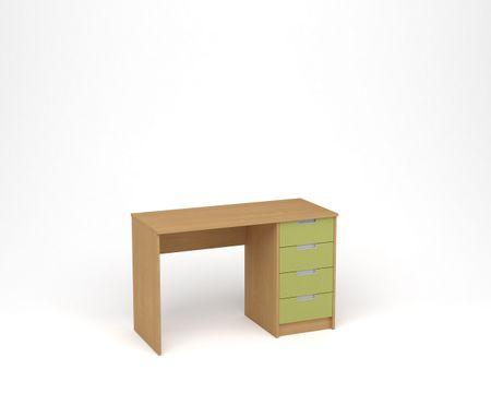 ANTERIA Psací stůl, buk/zelená