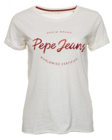 Pepe Jeans ženska majica Erin, S, bež