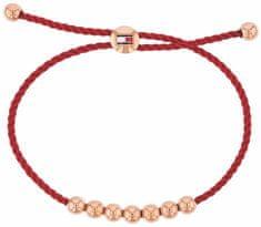 Tommy Hilfiger Moda bransoletka s różowe pozłacane koraliki TH2780004