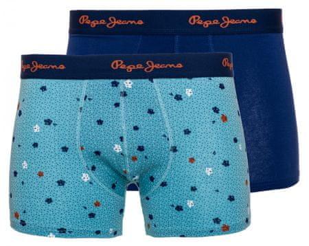 Pepe Jeans dvojité balení pánských boxerek Marshall S modrá
