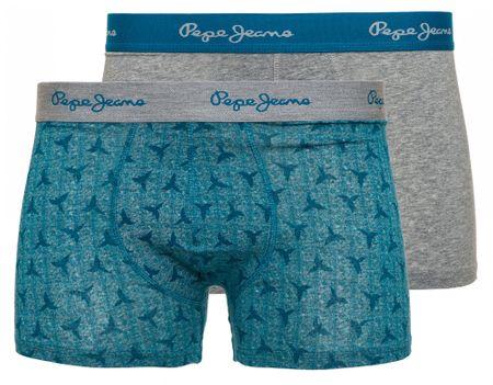 Pepe Jeans komplet muških bokserica Torr, 2 komada, L, siva