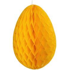 Butlers Papírová dekorační kraslice - žlutá