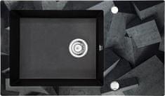 Deante granitni sudoper sa staklom Capella ZSC GB1C, grafitno siva, bez ruba