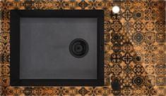 Deante granitno pomivalno korito s steklom Capella Precious ZSC GM2C