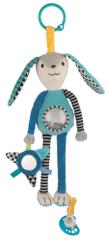 Canpol babies pluszowa zabawka z uchwytem na smoczek, Zajączek
