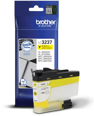 BROTHER wkład atramentowy LC-3237Y, żółty (LC3237Y)