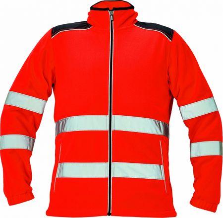 Červa KNOXFIELD Hi-Vis fleecová bunda červená XS