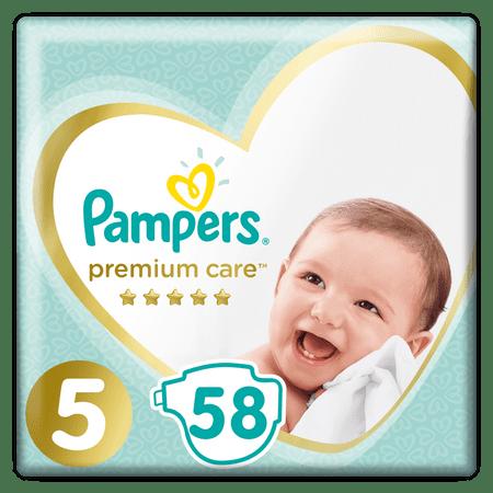 Pampers PremiumCare Pieluchy, rozmiar 5 Junior, 58 sztuk