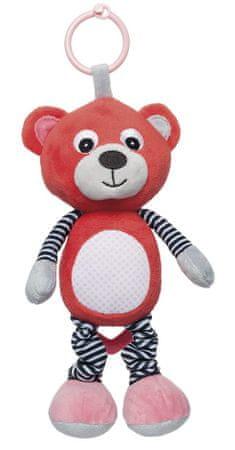 Canpol babies Plüss játékszekrény Macik, piros