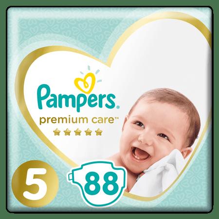 Pampers Premium Care Pieluchy rozmiar 5 Junior 88 szt zapas na miesiąc