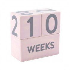 Pearhead lesene kocke Baby Age, roza
