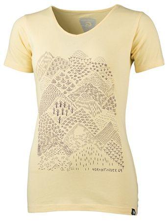 Northfinder Damska koszulka Pamfilia Yellow TR-4390OR (rozmiar XS)