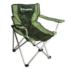 King Camp camping skládacia stolička s opierkami