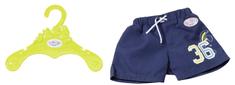 BABY born kostium kąpielowy, ciemnoniebieskie spodenki z nadrukiem numeru 36
