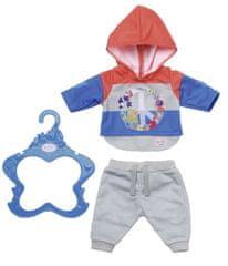 BABY born Trendy teplákovka 43 cm šedé kalhoty