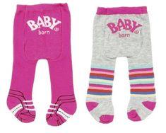 BABY born hlačne nogavice (2 kosa) roza + sive