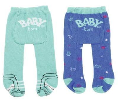 BABY born rajstopy (2 szt.) turkusowe + niebieskie