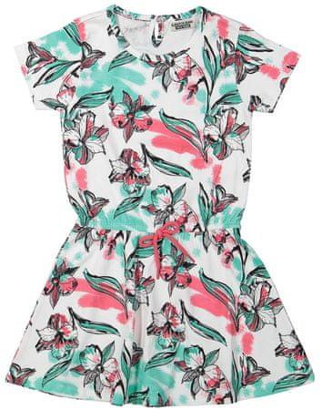 Dirkje dekliška obleka s cvetličnim vzorcem, 104, večbarvna