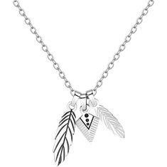 S'Agapõ Pánský náhrdelník s peříčky Indie SIN05