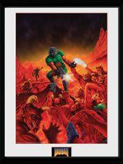 Oprawiony plakat Doom - Classic Theme