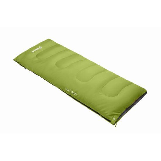 King Camp spací pytel Oxygen - zelený - pravý zip