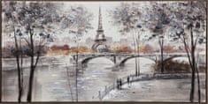 Superposter Maľovaný originál 140x70 Francúzske mosty