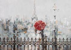 Superposter Maľovaný originál 100x70 Červený dáždnik