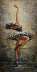 Superposter Kovový obraz 120x60 Balerína
