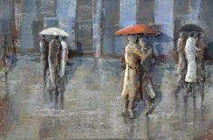 Superposter Kovový obraz 80x120 Daždivé dni