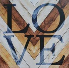 Superposter Obraz na plátne 70x70 Láska k drevu
