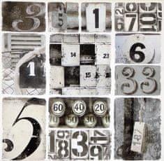 Superposter Obraz na plátne 70x70 Čísla
