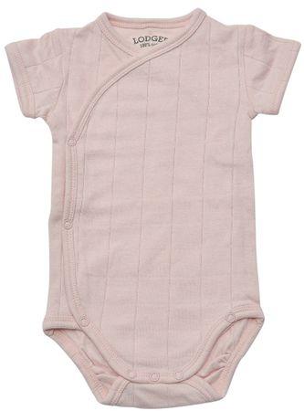 Lodger otroški bodi Romper Fold Over Solid Soft Skin, 56, svetlo roza
