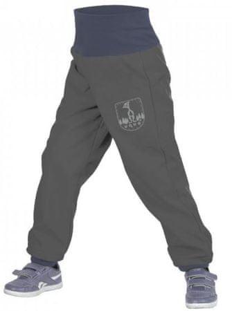 Unuo chlapecké slim softshellové kalhoty s fleecem 86 - 92 šedá