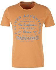 s.Oliver Męska koszulka 13.903.32.4742 .2246 Pieczone kurkuma