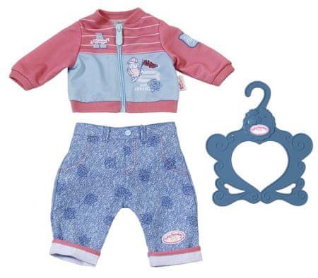 Baby Annabell hlače in jopica, modro - roza