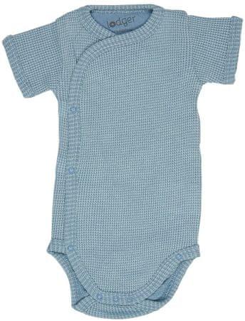 Lodger otroški bodi Romper Short Sleeves Ciumbelle Ocean, 56, moder
