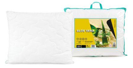 My Best Home vzglavnik Aloe Vera, bel z dekorativno oblogo, 70 x 80 cm