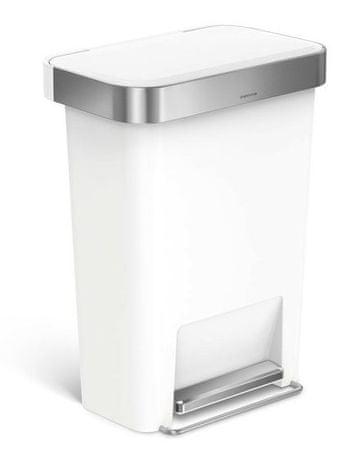 Simplehuman koš za odpadke, 45 L, bel
