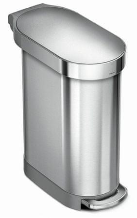 Simplehuman koš za otpad Slim, 45 L, brušeni nehrđajući čelik