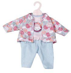 Baby Annabell oblačila z budno 43 cm, modri rokavi