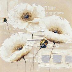Superposter Maľovaný originál 80x80 Mliečny kvet 4