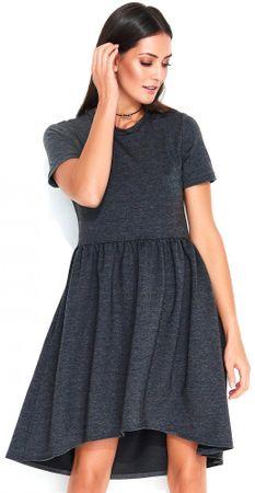 Numinou dámské šaty 42 tmavě šedá