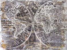 Superposter Maľovaný originál 90x120 Dotyk Zeme
