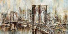 Superposter Maľovaný originál 140x70 Brooklyn Bridge