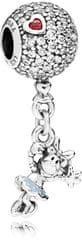 Pandora Strieborný korálik Disney Minnie na balóne 797171CZ striebro 925/1000