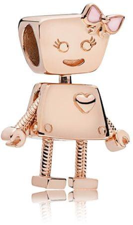 Pandora Brązowy wisiorek Robotka Bella 787141EN160 srebro 925/1000