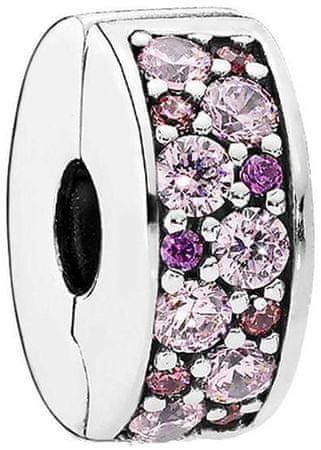 Pandora Błyszczący różowy koralik 791817 CZ SMX srebro 925/1000