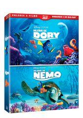 Kolekce Hledá se Nemo 3D+2D + Hledá se Dory 3D+2D (4 disky) - Blu-ray